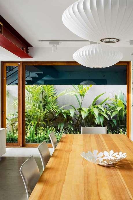 46. Jardim de inverno na sala de jantar rústica – Via: Pinterest