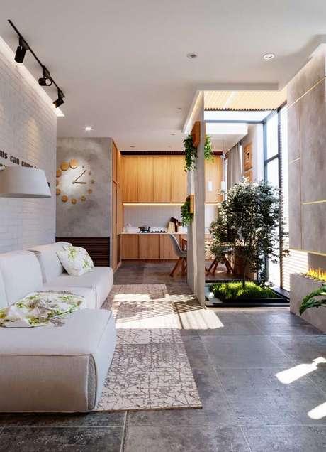 50. Jardim de inverno na sala pequena – Via: Pinterest