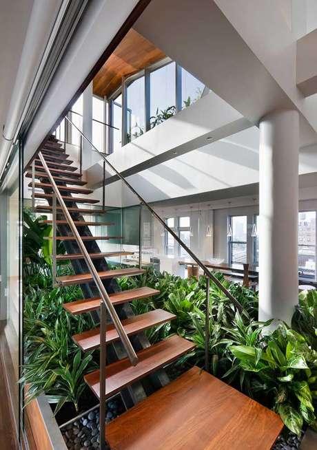 51. Jardim de inverno para sala com plantas – Via: Pinterest