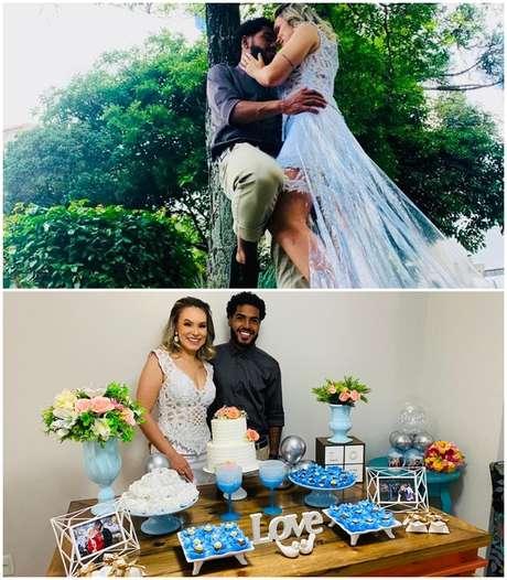 Flagra de paixão dos noivos e a hora do 'sim' na cerimônia civil