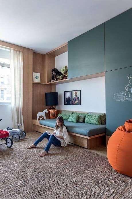 6. Cama de madeira para quarto infantil – Via: Pinterest