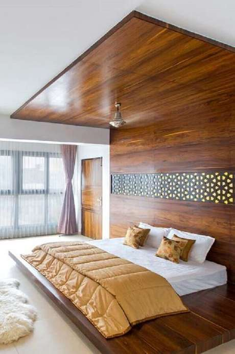 37. Cama de madeira estilo japonesa – Vai: Revista VD