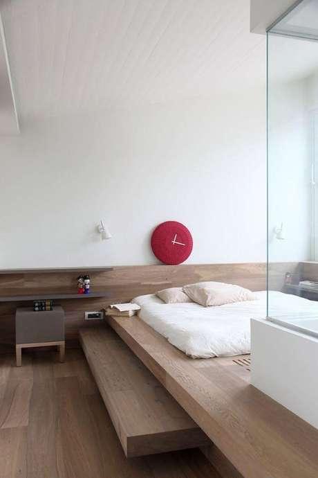 35. Cama de madeira japonesa – Via: Pinterest