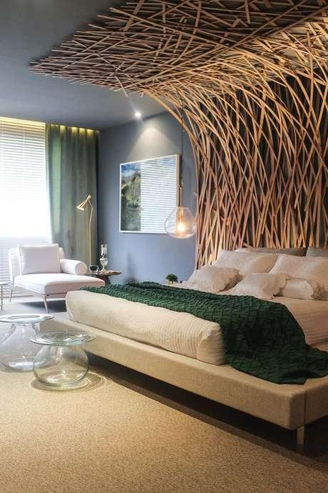 15. Cabeceira de madeira criativa – Via: Casa Abril