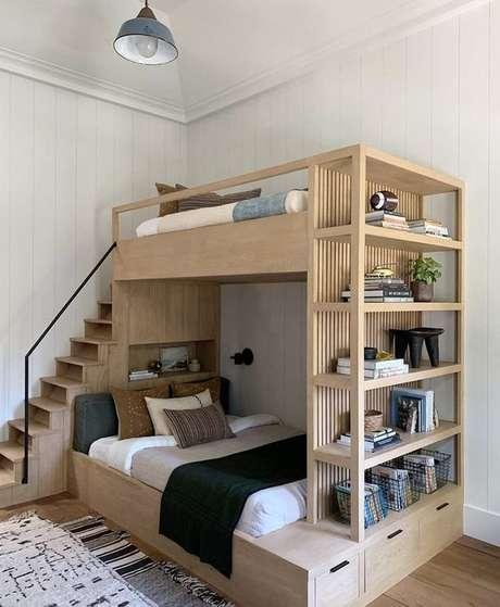 12. Beliche de madeira com estante – Via: Tendencee