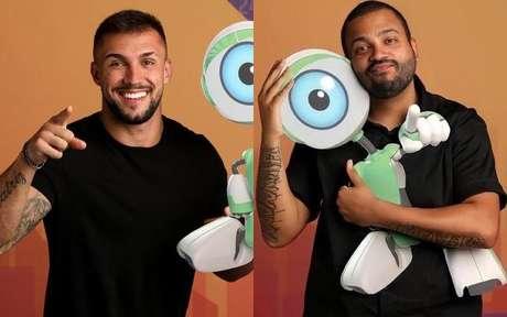 Arthur e Projota no BBB21 - TV Globo/Divulgação