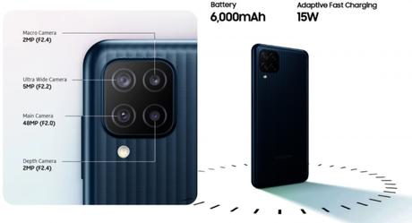 Câmera do Galaxy M12 tem sensor de 48 MP