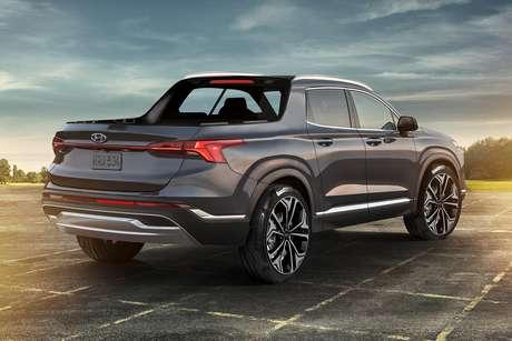 Coluna C da Hyundai Santa Cruz será inclinada para realçar a esportividade da picape