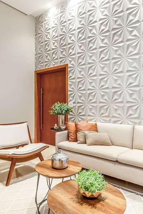 4. Sala com revestimento 3D geométrico – Via: RP Guimarães – Via: