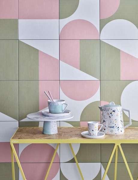 14. Revestimento em rosa e cinza – Via: Westone Bathrooms
