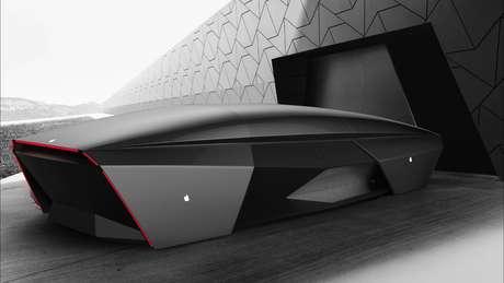 Designer Ali Cam imagina como poderia ser um carro da Apple no ano de 2076.