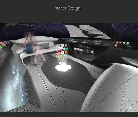 Futuro Apple Car deve trazer o sistema Apple CarPlay e apostar em interior sem volante e pedais.