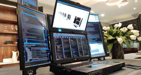 Aurora 7 é um protótipo de notebook com sete telas