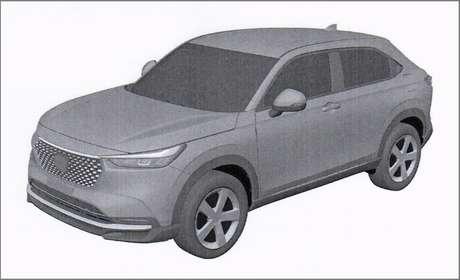 Imagem de registro do novo Honda HR-V: fim do segredo.