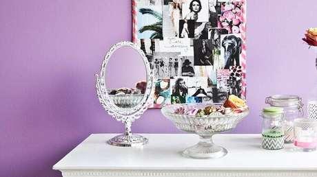 5. Modelo de espelho de mesa vintage. Fonte: Pinterest