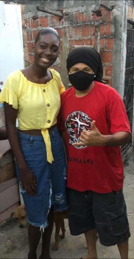 Rebeca Farias e Marivaldo dos Santos quando foi descoberta