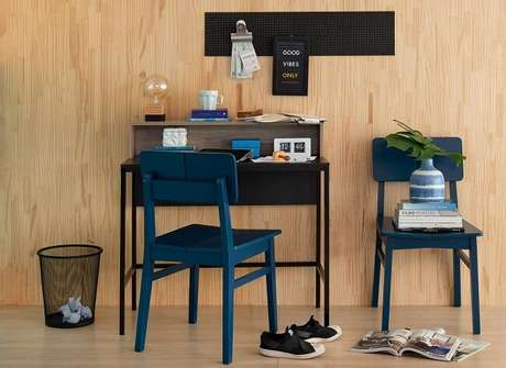 15. Cores, madeira e móveis com um toque de nostalgia são algumas das tendências para quartos 2021. Fonte: Pinterest