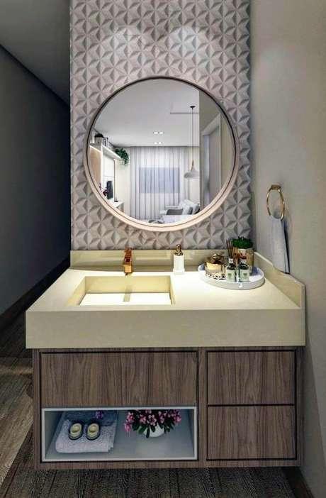 14. Banheiro com cuba esculpida moderna – Via: Pinterest