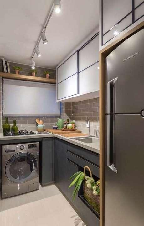 35. Cozinha com cuba esculpida – Via: Pinterest