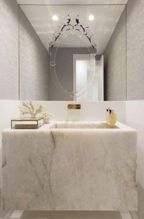 34. Capriche na escolha da decoração de banheiro chique – Via: Pinterest