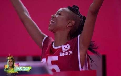 Karol Koncá vence prova de liderança no BBB21 - TV Globo/Reprodução