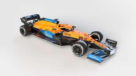 Novo McLaren MCL35M foi apresentado com propaganda da marca proibida Better Tomorrow.