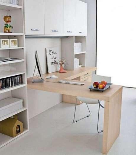 39. Escrivaninha de canto madeira para escritório. Fonte: Futurist Architecture