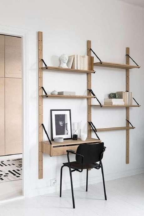 27. Escrivaninha de madeira rústica suspensa. Fonte: Coco Lapine Design
