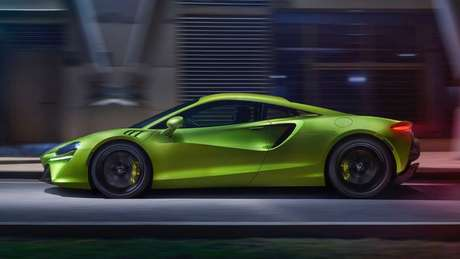 Construído sobre a nova plataforma da McLaren, a MCLA, o Artura utiliza alumínio e fibra de carbono para reduzir o peso adicional das baterias.