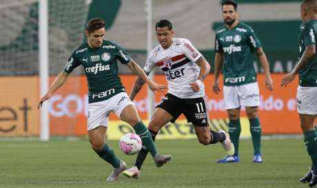 No jogo do primeiro turno, São Paulo bateu o Palmeiras por 2 a 0 (Foto: Cesar Greco/Palmeiras)