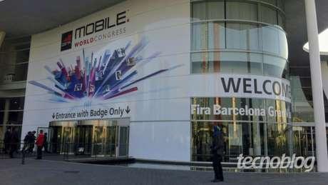 Entrada da MWC, em Barcelona