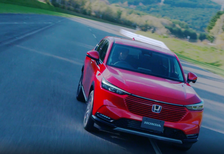 A grade frontal na mesma cor da carroceria é uma ousadia de design do novo Honda HR-V.