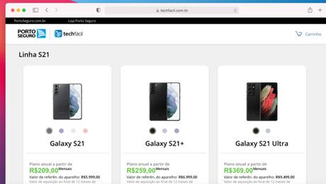 Linha Galaxy S21 é vendida por assinatura