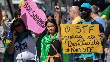 STF é alvo recorrente de manifestações bolsonaristas