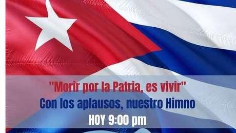 Governo promoveu uma campanha para que os cubanos aplaudissem e cantassem seu hino em resposta à canção