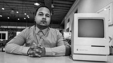 Computador que Freddie ganhou de presente quando tinha nove anos