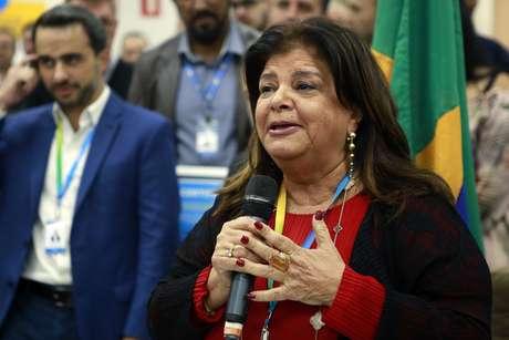 A Proprietária da rede Magazine Luiza, Luiza Trajano, em evento da inauguração da loja 1000 da rede de lojas Magazine Luiza