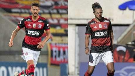 Gustavo Henrique deve substituir Arão neste domingo (Fotos: Alexandre Vidal/Flamengo)