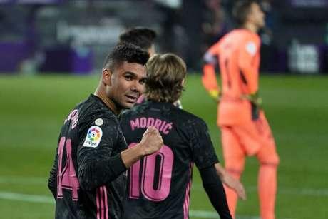 Casemiro tem seis gols em 28 jogos pelo Real Madrid na temporada (Foto: CESAR MANSO / AFP)