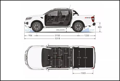 Picape da Renault tem boa capacidade off-road e espaço amplo na cabine dupla e na caçamba.