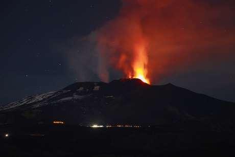 Vulcão Etna, na Sicília, sul da Itália