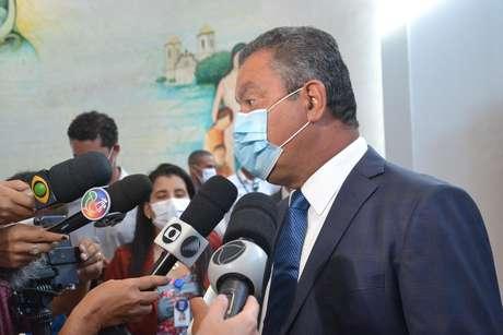 O governador da Bahia, Rui Costa, na abertura da campanha de vacinação contra a Covid-19 em Salvador (BA)