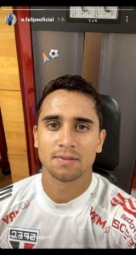 Everton Felipe voltou ao São Paulo (Foto: Reprodução/Instagram)