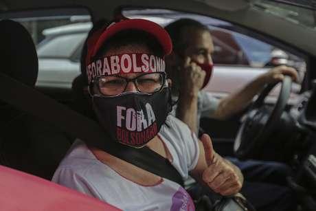 Protesto na capital paulista