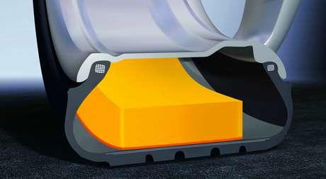 Pneus auto selantes garantem segurança e silêncio adicional.