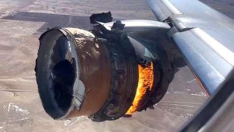Turbina danificada em pleno voo; avião fez pouso de emergência e ninguém se feriu