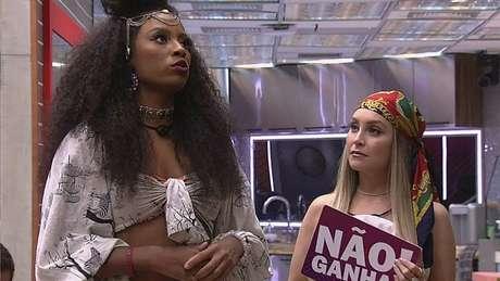 Lumena Aleluia e Carla Diaz tornaram-se rivais dentro do Big Brother Brasil 21