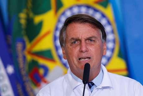 Presidente Jair Bolsonaro durante cerimônia no Palácio do Planalto 12/01/2021 REUTERS/Adriano Machado