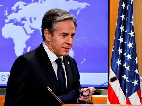 Secretário de Estado dos EUA, Antony Blinken REUTERS/Carlos Barria/Pool
