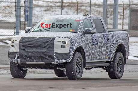 Foto da nova Ford Ranger Raptor publicada pelo Car Expert.
